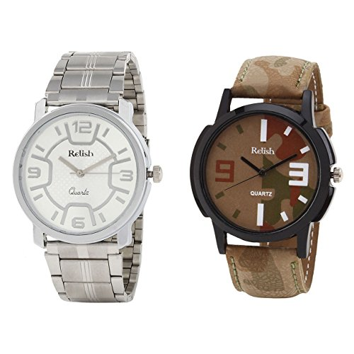 Relish Analog Round Casual Wear Watches For Men Combo - B01ANCDWHW