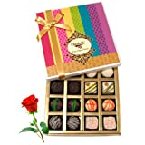 Valentine Chocholik's Belgium Chocolates - Ultimate Collection Of Chocolate Box With Red Rose