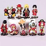 9pcs/lot 6-8cm. Anime One Piece Action Figures Cute One Piece Film Z Mini Figure Toys Dolls