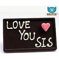 CHOCOLATE GIFT FOR SISTER, DARK CHOCOLATES, CHOCOLATE BAR, RAKHI GIFT PACK, PERSONALIZED CHOCOLATES, LOVE U SIS...