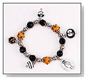 Halloween Bracelet Skeleton Skull Fashion Glass Jewelry