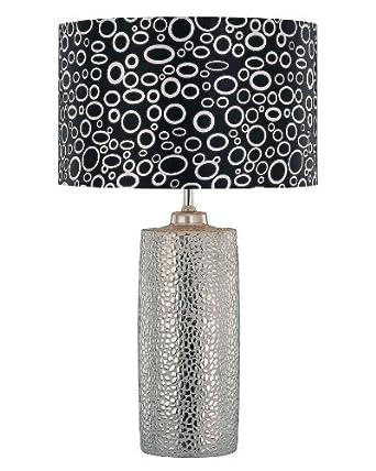 Lite Source LS-21280 Silvio Ceramic Table Lamp, Silver