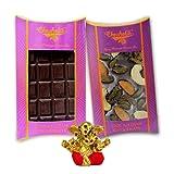 Chocholik Belgium Chocolate Gifts - Bittersweet Combo Of Chocolate Bars With Small Ganesha Idol - Diwali Gifts