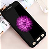 360 Degree Full Body Protection Front & Back Case Cover (iPaky Style) With Tempered Glass For NOKIA 3 (Black)