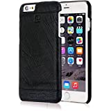 Pierre Cardin Leather Back Cover Case Shell Cover For Apple IPhone 5 5S-black