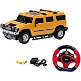 Catterpillar Steering Remote Controlled H2 Hummer ( Includes Rechargeable Batteries & Charger) (Yellow)