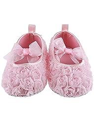 Lilsta Baby Girls' Baby Pink Cotton Flats