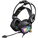 SADES SA913 Lightweight PC Gaming Headset USB Stereo Surround Sound Over Ear Headphones With Microphone Vibration...