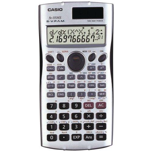 Casio Fx115-Ms Scientific Calculator With 300 Built-In Funct