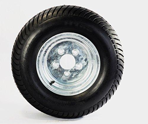 """Trailer Tire + Rim 20.5X8-10 205/65-10 20.5/8-10 10″ 5 Bolt """"E"""" Wheel Galvanized"""