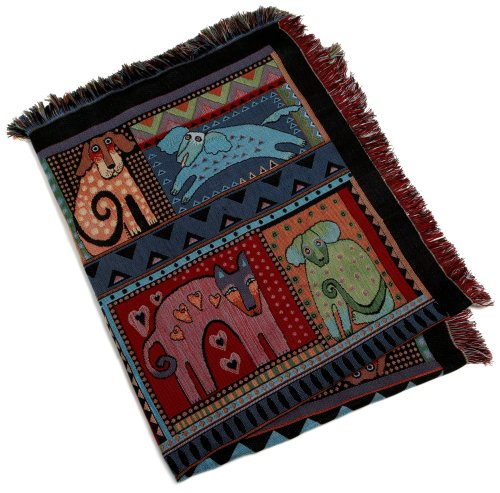 Laurel Burch Mythical Dogs Throw
