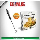 Premium Spiralschneider Hand für Gemüsespaghetti kartoffel - FabQuality Zucchini Spargelschäler, Gurkenschneider, Gurkenschäler, Möhrenreibe Möhrenschäler, Gemüsehobel -