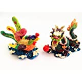 Feng Shui Chinese Dragon And Phoenix Statue Fgurine Decoration For Marriage Luck (With A Betterdecor Gift Bag)