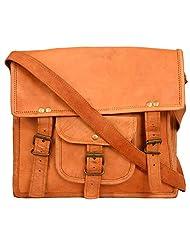 La Bags Women's Leather Adjustable Strap Handbag (Brown, LB 123)