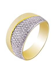 Exclusive Diamond Look Stunning Gold Plated Finger Ring For Women