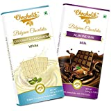 Chocolates Milk Almond Bar And White Coconut And Cardamom Bar - Luxury Belgium Chocolates
