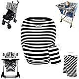 Stretchy Stripes 3-in-1 Baby And Toddler Shopping Cart Cover, Car Seat Canopy And Nursing Cover All-In-One Universal...