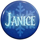 Henry The Buttonsmith Janice Winter Ice Name Tag