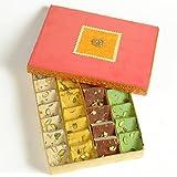Ghasitaram Gifts Sugar Free Assorted Mawa Barfis (200 Gms)