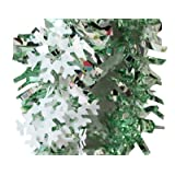 PrettyurParty Green And White Snow Flakes Colored Garland
