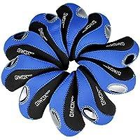 Giwox(TM) Set Of 10 Black & Blue High Quality Neoprene Golf Club Iron Cover Waterproof Golf Head Protector With...