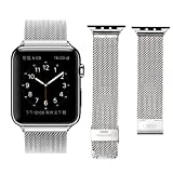 Apple Watch Band, LROO Stainless Steel Mesh Replacement Strap Wrist Band W/ Metal Clasp Classic For Apple Watch...