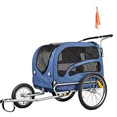Doggyhut Large Pet Bike Trailer / Jogger Kit Dog Bicycle Carrier Blue 7030202