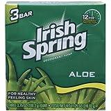 Irish Spring (Irial) Aloe Deodorant Soap By Irish Spring For Unisex, 3 Count