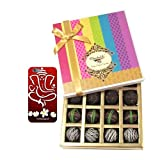 Chocholik Belgium Chocolates - Dark Flavour Truffle Collection Gift Box With With 3d Mobile Cover For IPhone 6...