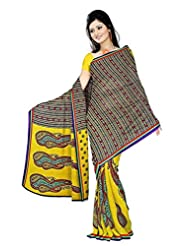 Anand Sarees Faux Georgette Synthetic Print Saree - B0148Q5HKY