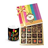 Delectable Collection Of Truffles And Chocolates With Birthday Mug - Chocholik Belgium Chocolates