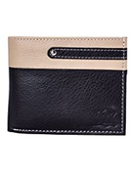 Mtuggar Artificial Leather Classy Wallet For Men-1512_Blackbeige