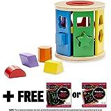 Shape Sorting Drum Classic Toy + FREE Melissa & Doug Scratch Art Mini-Pad Bundle [90414]
