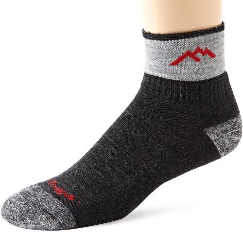 Darn Tough Merino Wool 1/4 Sock Cushion,Black,Medium