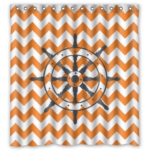 Ship Wheel & Orange Chevron