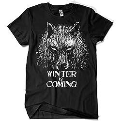 344-Camiseta Winter Is Coming (Fuacka) (Negro, M)