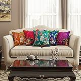SEJ Cotton (Set Of 5) HD Digital Premium Cushion Cover 16 By 16 INCH Multicolor