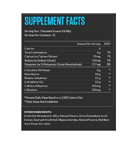 legion athletics pulse pre workout supplement ingredients