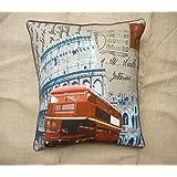 Which Kraft Cotton Canvas Lon14 Cushion Cover- Multi Color, 40.64 Cm X 40.64 Cm