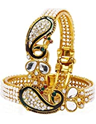 JDX Gold-Plated Bangles Bracelets Set For Women And Girls