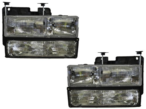 CHEVY/GMC TRUCK OEM STYLE HEADLIGHTS HEADLAMPS 4PC SET PAIR NEW