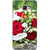 PrintVisa Designer Back Case Cover For Samsung Galaxy On Max (Bunch Of Red And White Flowers)