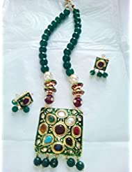 Traditional Artificial Fancy Jewellery Beaded Necklace Earring Set