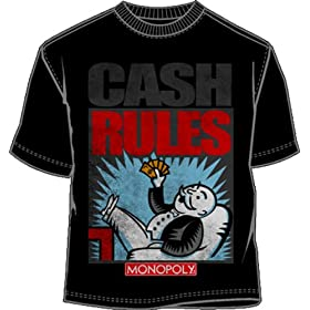 Click to order Monopoly money Cash Rules T-shirt from Amazon!