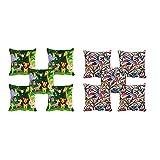 10 Pc -meSleep Jungle & Bird Digitally Printed Cushion Cover (16 X 16 Inch)