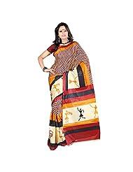 Kajal Sarees Women's Silk Self Print Multicoloured Saree - B00V809714