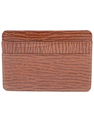 WALLETSNBAGS Unisex Leather Pocket Card Holder-Tan