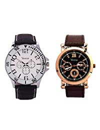 Veens Multicolor Dial Combo Pack Of 2 Boys/Gents/Mens Wrist Watch DW1081 Qg