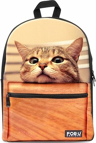 Backpack Bags,FOR U DESIGNS Casual Daypacks Cute Cat Fashion Best School Backpack Rucksack Back Pack Fits 15.6 inch Laptop