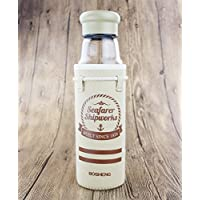 Double Y High Quality Borosilicate Glass Water Bottle With Nylon Sleeve,18.5 Ounce (Beige),